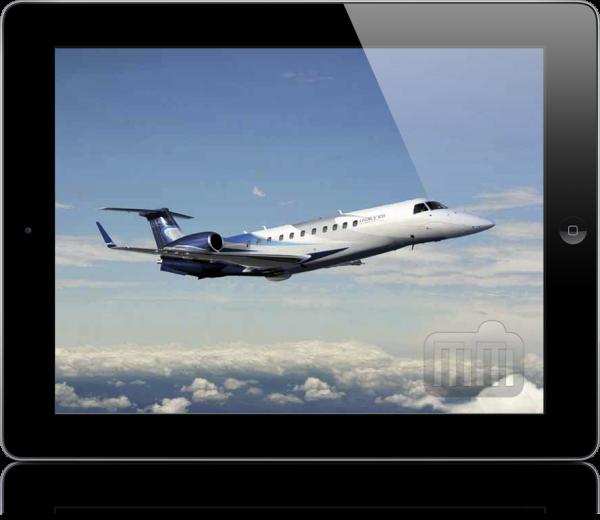 Legacy 600, da Embraer, no iPad