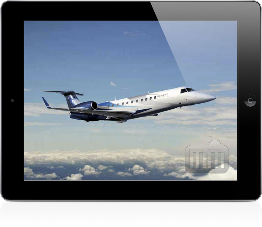 Legacy 600, da Embraer, no iPad