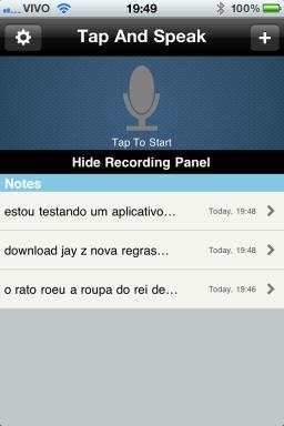 Speech Notes - iPhone