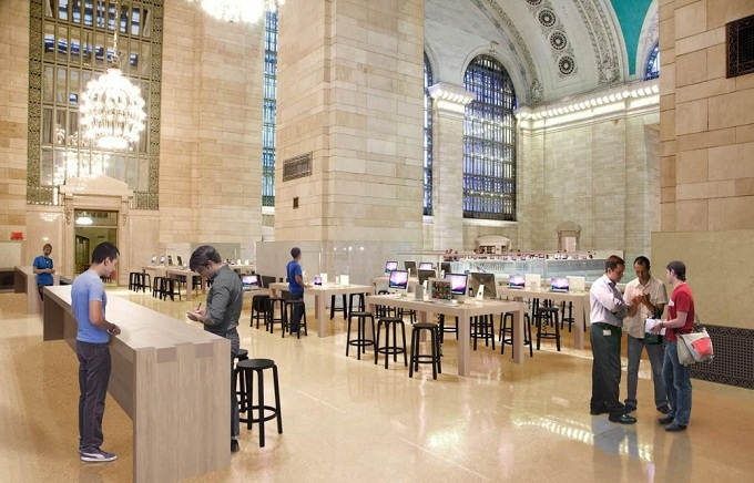 Rendering 3D da Apple Retail Store do Grand Central Terminal, em Nova York