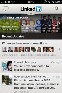 LinkedIn app —Updates