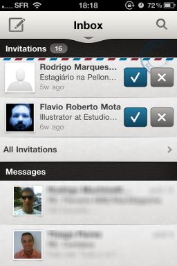 LinkedIn app — Inbox
