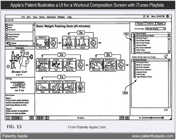 Patente de app para montar rotinas de exercícios