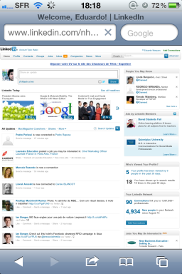 Site LinkedIn (antes)