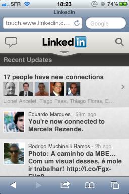 Site LinkedIn (depois)