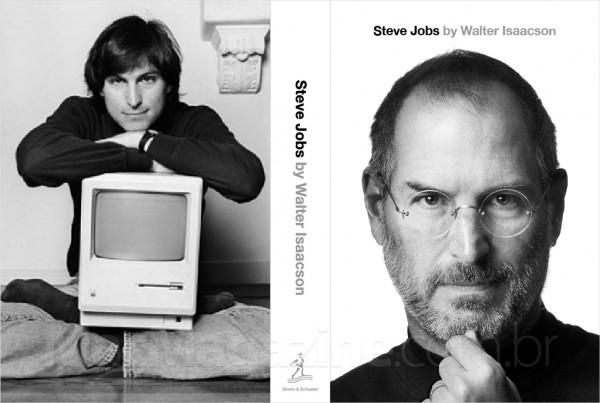 Capa da biografia autorizada de Steve Jobs