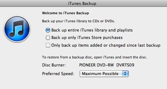 Backup iTunes