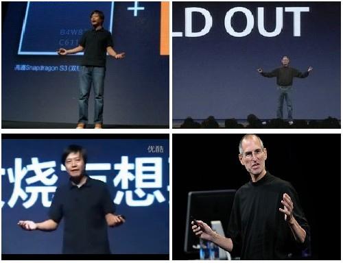 Comparações de keynote da Xiaomi com Steve Jobs