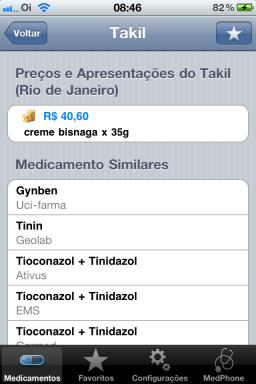 Preços de Medicamentos - iPhone