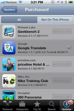 Update de apps no iOS 5 beta 6