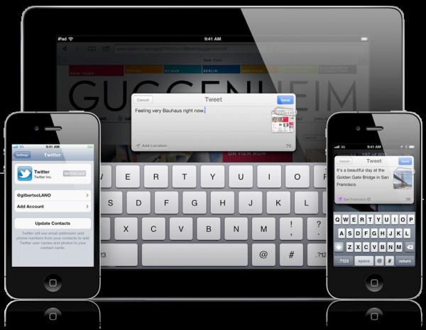 Twitter integrado ao iOS