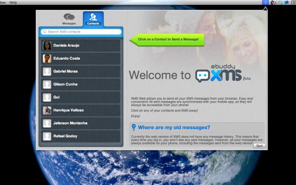 ebuddy XMS Tab - Mac OS X