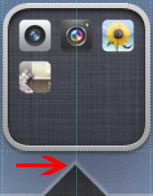 Seta em pastas do iOS