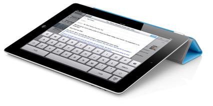 Teclado virtual do iPad