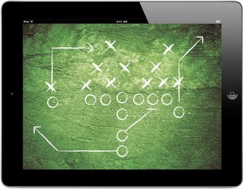 iPad com tática na tela