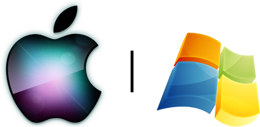 Logos - Apple e Windows (Microsoft)