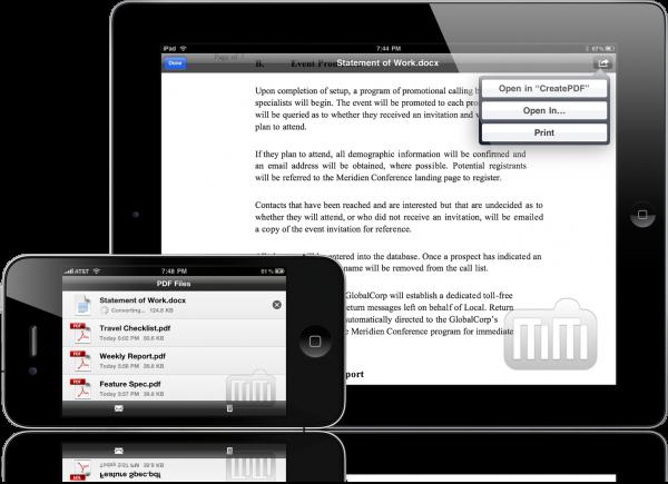 Adobe CreatePDF - iPhone e iPad