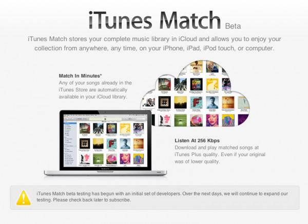 iTunes Match fechado