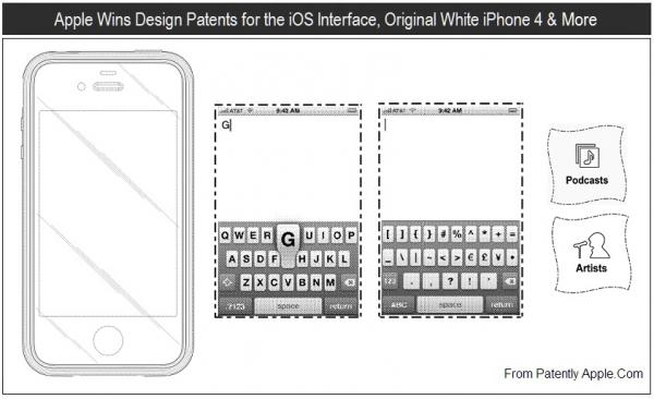 Patente do Bumper, de teclados virtuais e de ícones