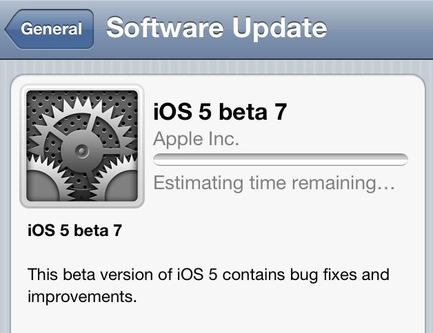 iOS 5 beta 7
