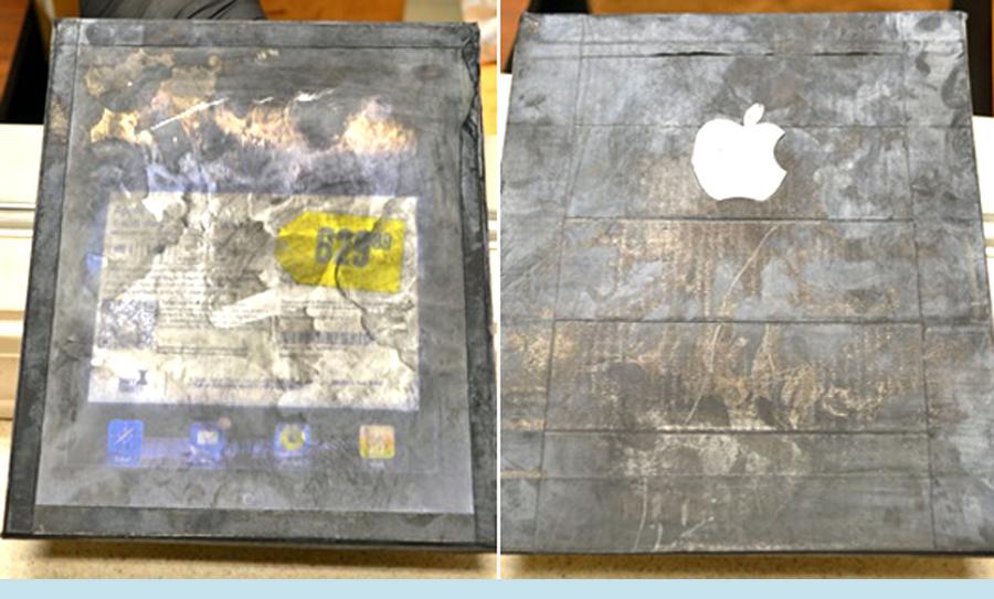 Scam - iPad de madeira