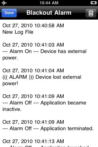 Blackout Alarm
