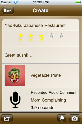 Notable Meals for Evernote