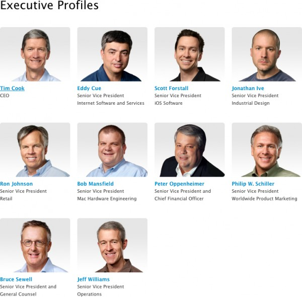 Página de executivos atualizada com Eddy Cue