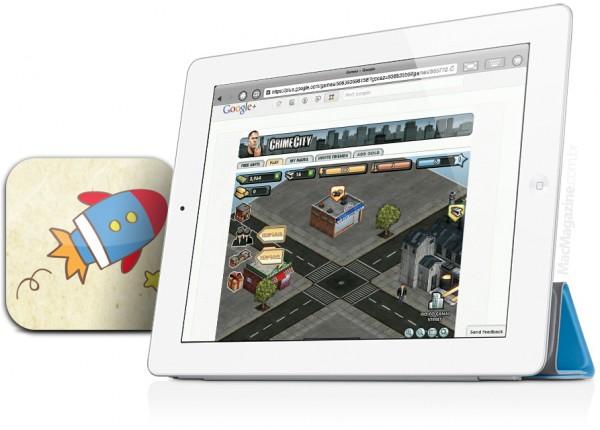 iSwifter no iPad rodando jogo do Google+