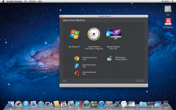 Windows on Demand no Parallels Desktop 7