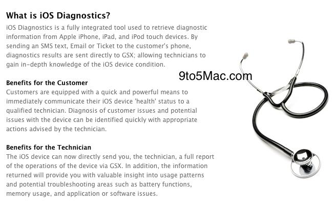 Sistema de diagnósticos remotos da Apple