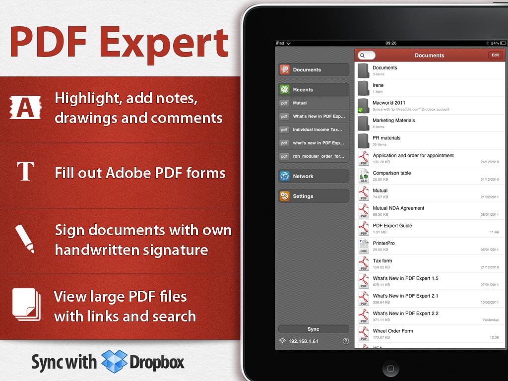 PDF Expert 3.0 para iPad