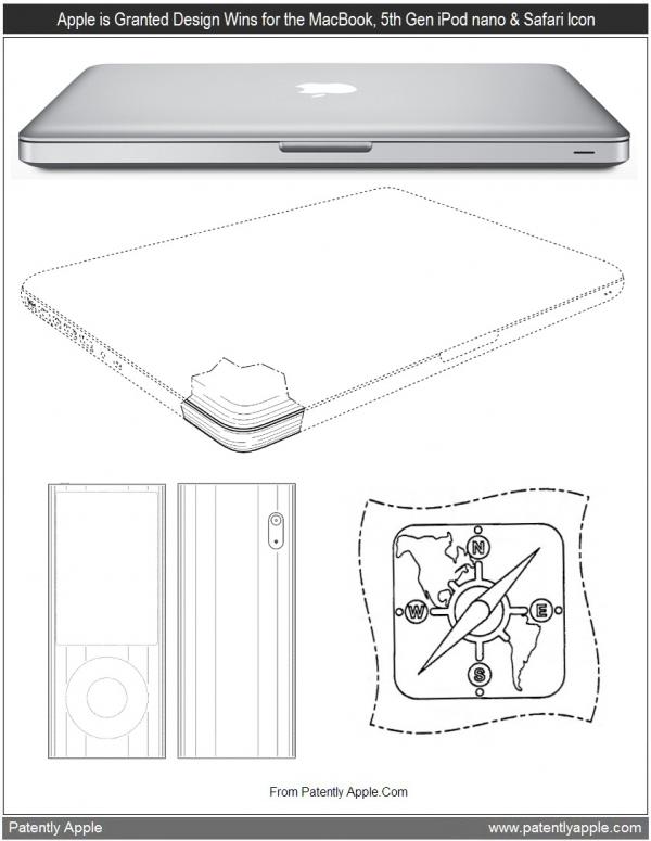 Designs do MacBook, iPod nano e Mobile Safari