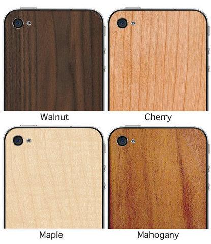 JackBacks - traseiras de madeira para iPhone 4