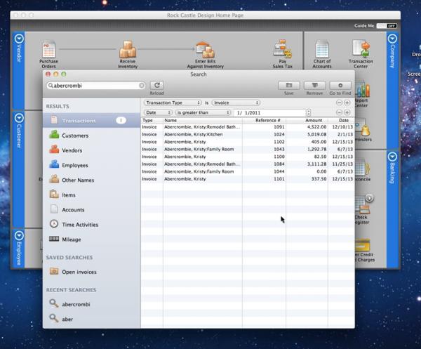 QuickBooks for Mac 2012