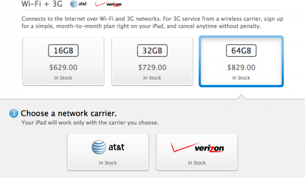 AT&T ou Verizon?  — Apple Online Store