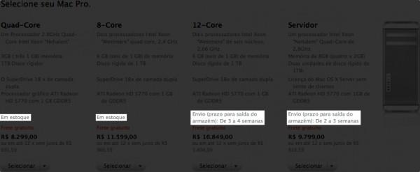 Estoque —Apple Online Store