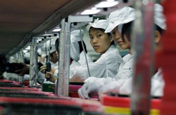 Linha de produção da Foxconn