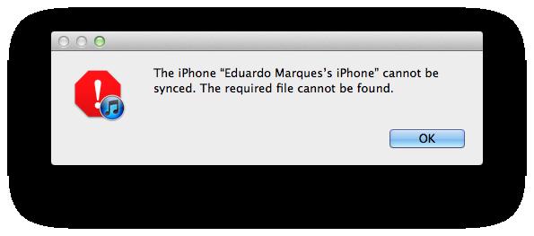Erro de sincronização entre iPhoto e iPhone