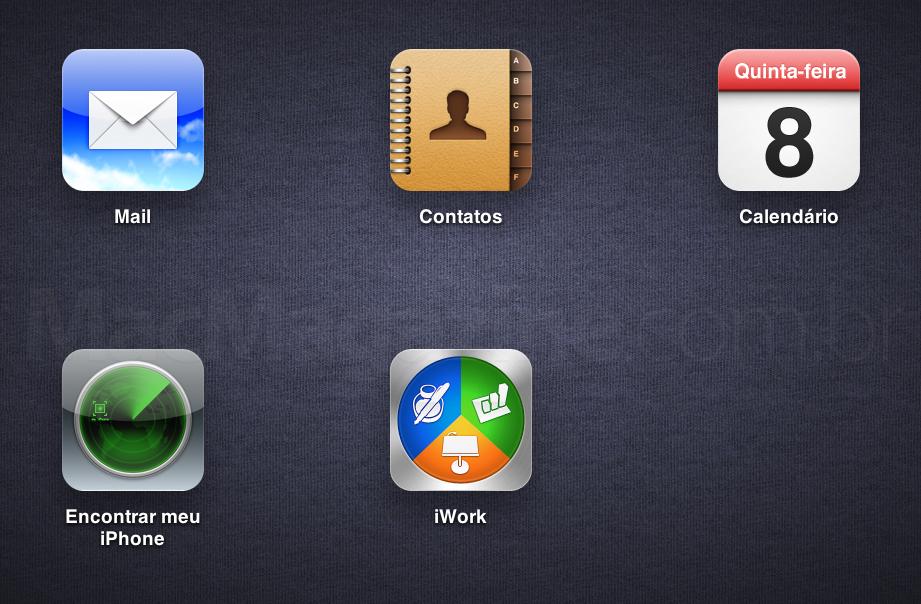 iCloud.com em português