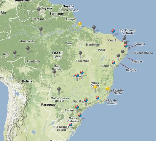 Mapa do Treinamento Itinerante