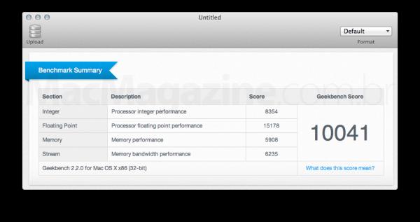 Benchmark do MacBook Pro unibody de 15 polegadas