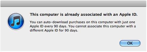 Aviso Apple ID