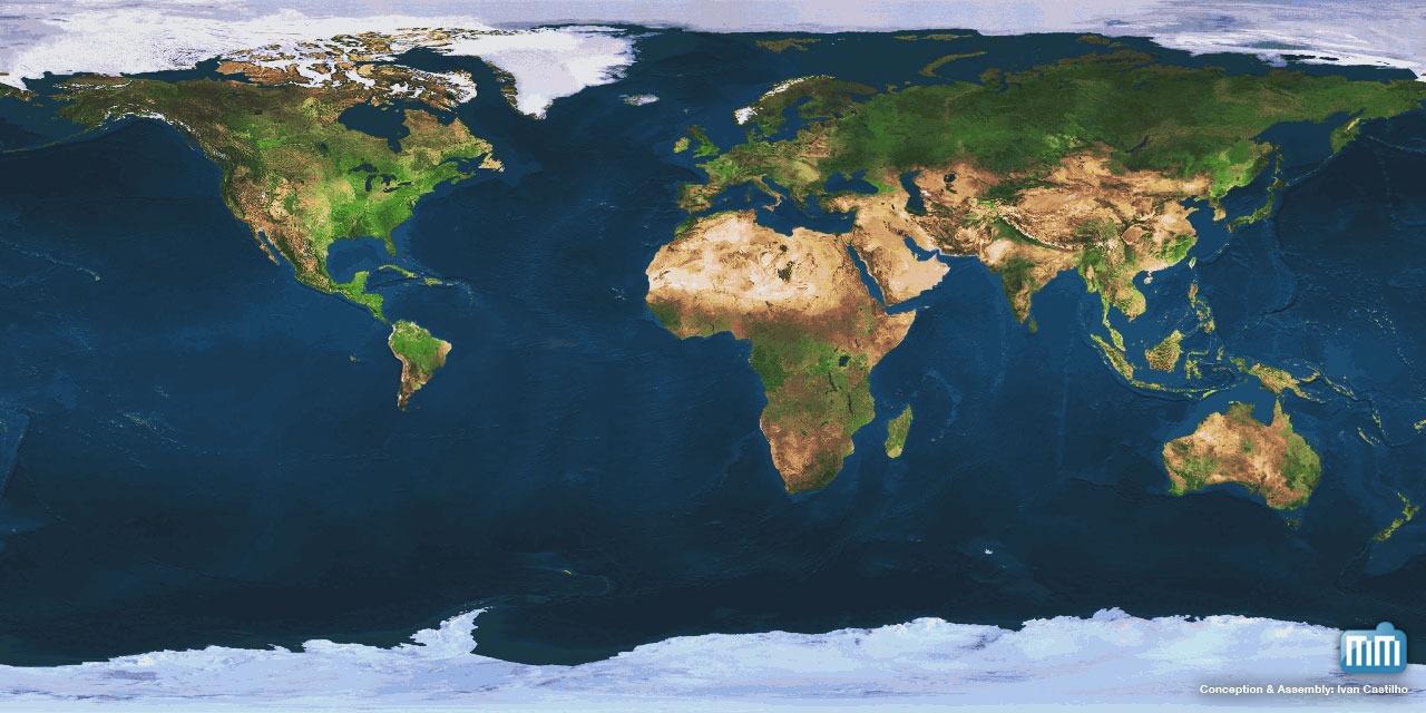 Mac Society - Mapa Mundi com Brasil minúsculo