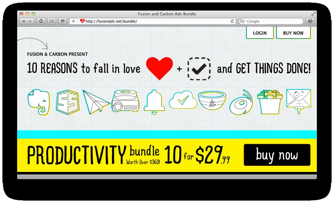 Bundle para Mac da Fusion e da Carbon Ads