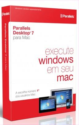 Caixa do Parallels Desktop 7 para Mac em português