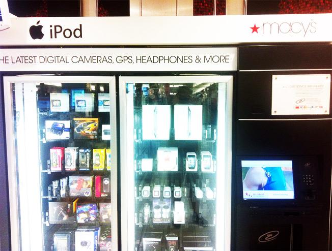 Máquina que vende gadgets na Macy's
