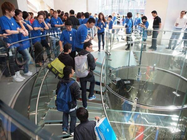 Inauguração da nova Apple Store de Xangai