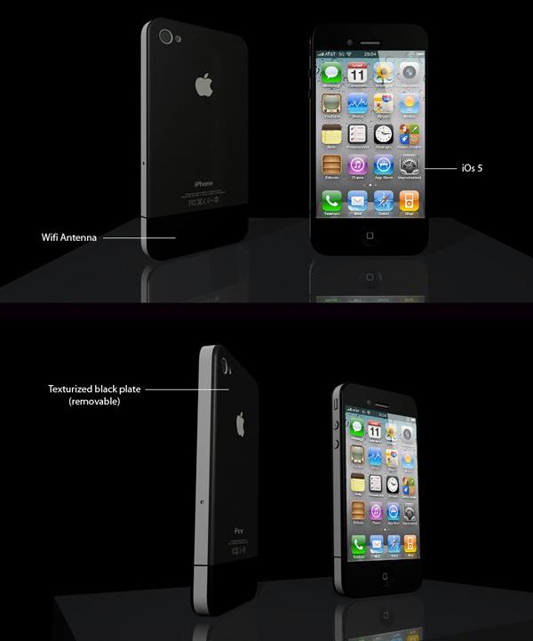 Mockup de iPhone 4S