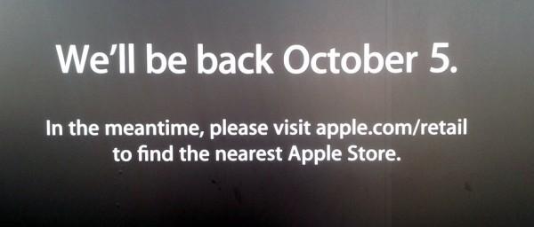 Apple Store fechada até 5 de outubro
